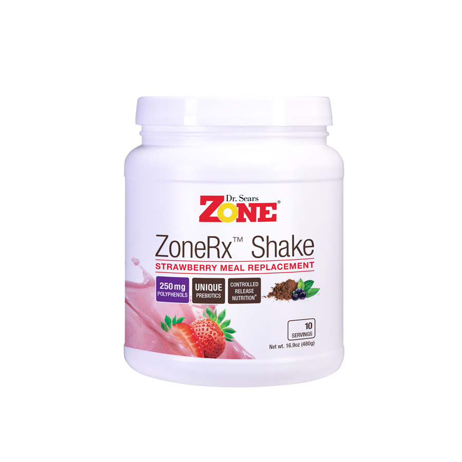 Zone Shakes Strawberry 10 Servings