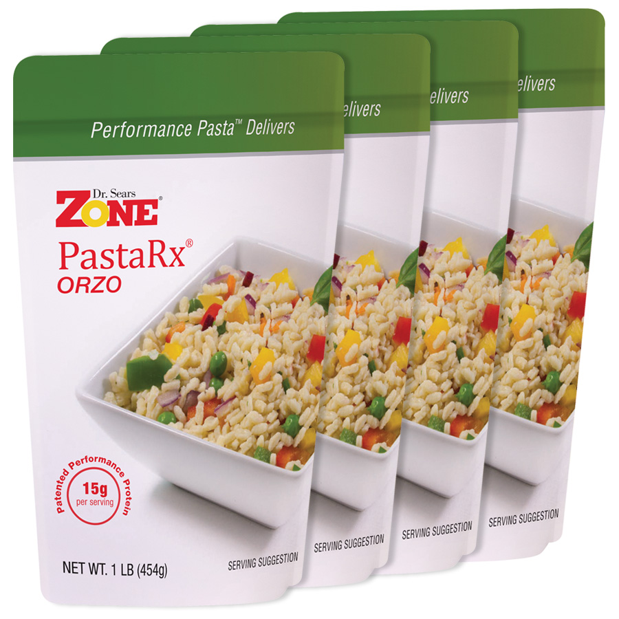 Zone PastaRx Orzo - 4 pack of pasta