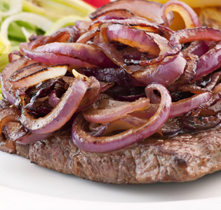 Barbecue Beef with Onions