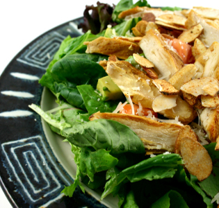 Broiled Chicken Salad with Blue Cheese