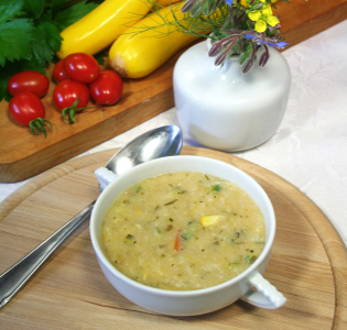 Chilled Curried Buttermilk Zucchini Soup