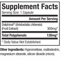 Dr. Sears Zone MaquiRx, 30 capsules, Supplement Facts