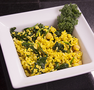 Orzo Spinach with Beans