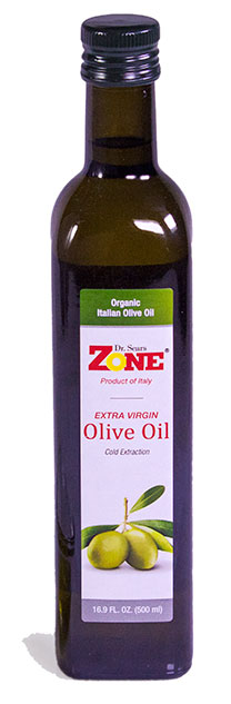 Dr. Sears' Zone Extra Virgin Olive Oil, 16.9 fl oz bottle