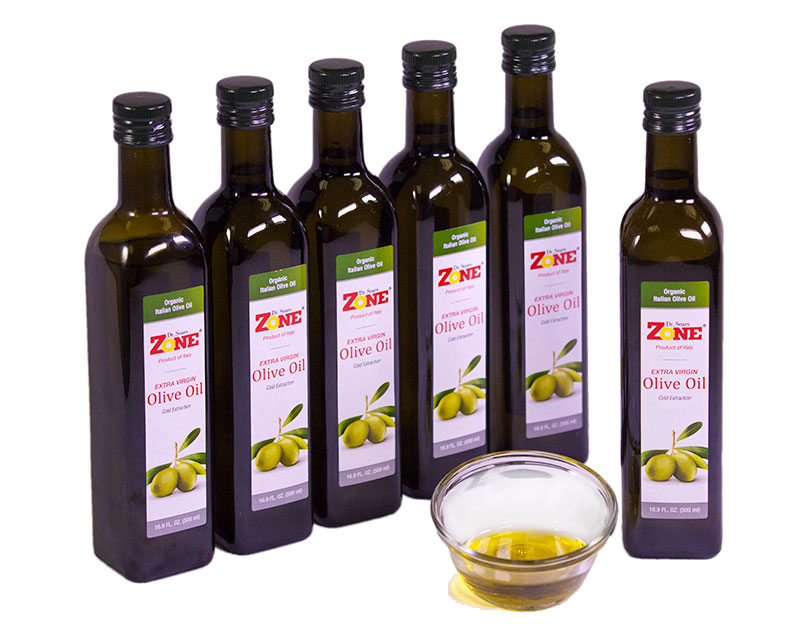 Dr. Sears' Zone Extra Virgin Olive Oil, 16.9 fl oz bottle (Case of 6)