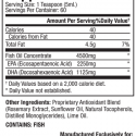 Dr. Sears Zone OmegaRx 2, 10oz Liquid Supplement Facts